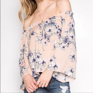Off the shoulder floral print top